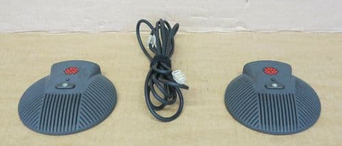 2x Polycom 2201-00698-002-F SoundStation EX External Microphone with Cable